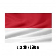 Flag of Monaco - 90 x 150 cm   2 side hooks   200D Durable Polyester