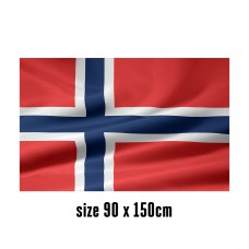 Flag of Norway - 90 x 150 cm | 2 side hooks | 200D Durable Polyester