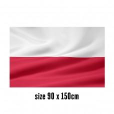 Flag of Poland - 90 x 150 cm | 2 side hooks | 200D Durable Polyester