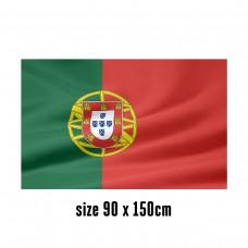 Flag of Portugal - 90 x 150 cm | 2 side hooks | 200D Durable Polyester