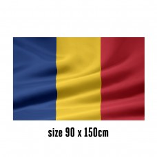 Flag of Romania - 90 x 150 cm | 2 side hooks | 200D Durable Polyester
