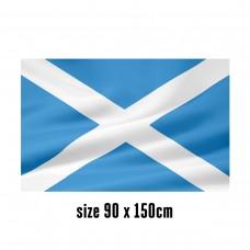 Flag of Scotland - 90 x 150 cm   2 side hooks   200D Durable Polyester