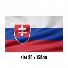 Flag of Slovakia - 90 x 150 cm | 2 side hooks | 200D Durable Polyester