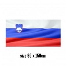 Flag of Slovenia - 90 x 150 cm | 2 side hooks | 200D Durable Polyester