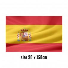 Flag of Spain - 90 x 150 cm | 2 side hooks | 200D Durable Polyester