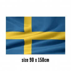 Flag of Sweden - 90 x 150 cm | 2 side hooks | 200D Durable Polyester