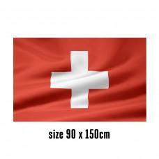Flag of Switzerland - 90 x 150 cm | 2 side hooks | 200D Durable Polyester