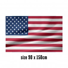 Flag of USA - 90 x 150 cm | 2 side hooks | 200D Durable Polyester