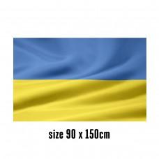 Flag of Ukraine - 90 x 150 cm | 2 side hooks | 200D Durable Polyester