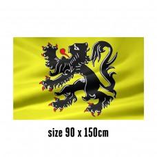 Flag of Flanders - 90 x 150 cm | 2 side hooks | 200D Durable Polyester