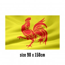 Flag of Wallonia - 90 x 150 cm | 2 side hooks | 200D Durable Polyester