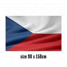 Flag of the Czech Republic - 90 x 150 cm   2 side hooks   200D Durable Polyester