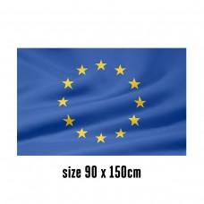 Flag of European Union - 90 x 150 cm | 2 side hooks | 200D Durable Polyester