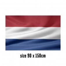 Flag of the Netherlands - 90 x 150 cm | 2 side hooks | 200D Durable Polyester