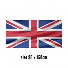 Flag of the United Kingdom - 90 x 150 cm | 2 side hooks | 200D Durable Polyester