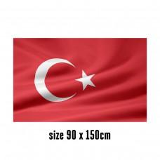Flag of Turkey - 90 x 150 cm | 2 side hooks | 200D Durable Polyester