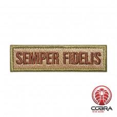 Semper Fidelis bruin groene geborduurde patch   Klittenband   Military Airsoft