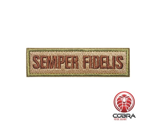 Semper Fidelis bruin groene geborduurde patch | Klittenband | Military Airsoft