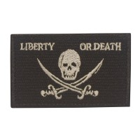 Militaire patch vlag Liberty Or Death met klittenband