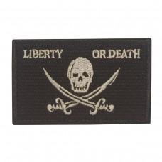 Militaire patch vlag Liberty Or Death met klittenband