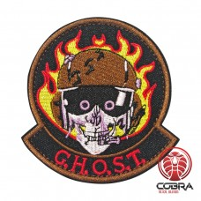 Ghost geborduurde patch | Klittenband | Military Airsoft