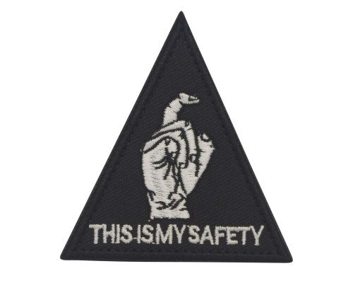 Militaire patch This is my safety Blackhawk Down met klittenband