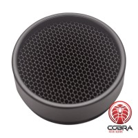 Anti-reflection lens cover for scope - black