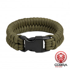 "Paracord Armband ""Fish"", Army groen"