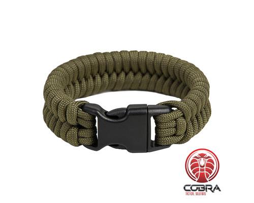 "Paracord Armband ""Fish"", Army groen"