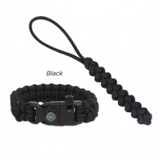 """Paracord Fire-starting tool """"Flaming Lizzard"""", Black"""