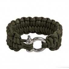 """Paracord Quick Unravel bracelet """"Loops"""", Army green"""
