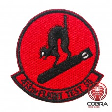 413th Flight Test SO Geborduurde militaire Patch met klittenband