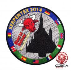 Serpentex 2014 geborduurde patch met velcro