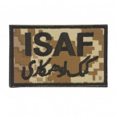 Militaire patch ISAF Patch digital camo sand met klittenband