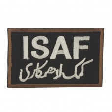 Militaire patch ISAF Patch zwart met klittenband