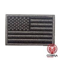 USA Amerikaanse vlag grijs/zwart geborduurde militaire patch met klittenband