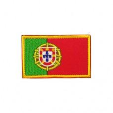 Geborduurde patch vlag Portugal met klittenband