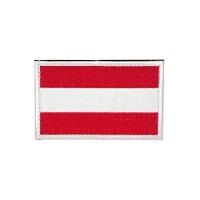 Geborduurde patch vlag Oostenrijk met klittenband