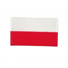 Geborduurde patch vlag Polen met klittenband