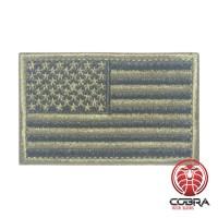 USA Amerikaanse vlag brons geborduurde militaire patch met klittenband