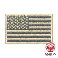 USA Amerikaanse vlag goud geborduurde militaire patch met klittenband