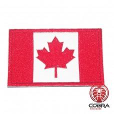 Geborduurde patch vlag van Canada met klittenband