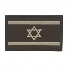 Militaire patch vlag Israel Israeli Zwart met klittenband