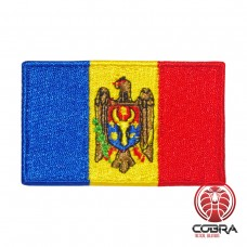 Vlag Moldavië geborduurde patch | Strijkpatches | Military Airsoft