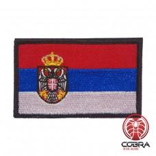 Vlag Servië geborduurde patch   Velcro   Military Airsoft