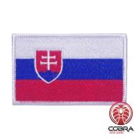 Vlag Slovakije geborduurde patch | Velcro| Military Airsoft