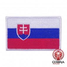 Vlag Slovakije geborduurde patch   Velcro  Military Airsoft