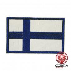 Vlag Finland  geborduurde patch | Velcro| Military Airsoft
