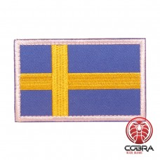 Vlag Zweden wite boord geborduurde patch met klittenband