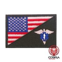 USA Amerikaanse vlag met medical wings geborduurde militaire patch met klittenband